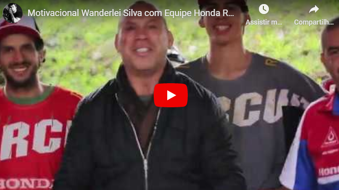 Wanderlei Silva do MMA, motiva o Team Honda Racing Brasil | Vídeo